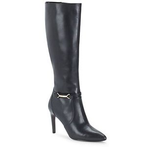 Cole Haan Black Leather Tall Boots EUC